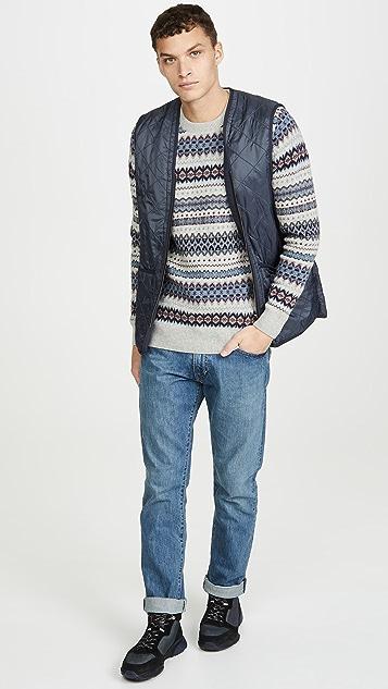 Barbour Long Sleeve Case Fair Isle Crew Neck Sweater