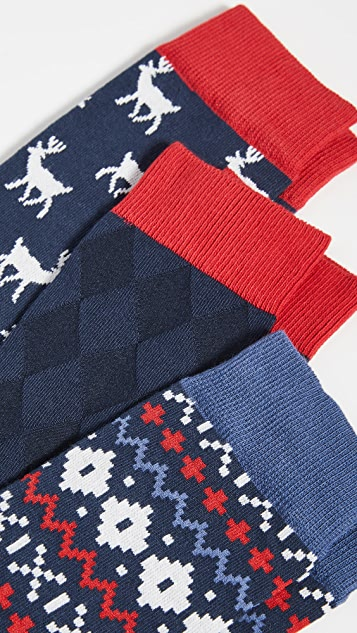 Barbour Barbour Stag Fairisle Sock Set