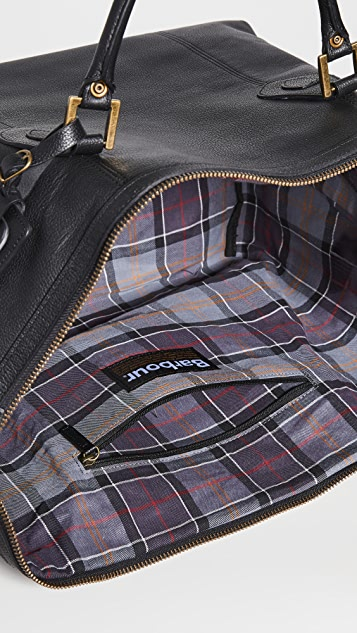 Barbour Leather Medium Travel Explorer Bag