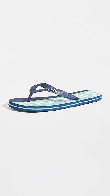Barbour Stripe Beach Sandals