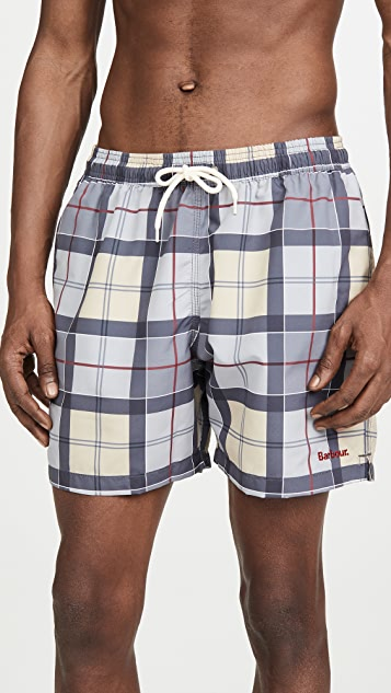 Barbour Tartan Swim Shorts