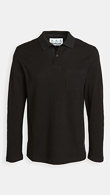 Barbour Barbour Waffle Rugby Shirt