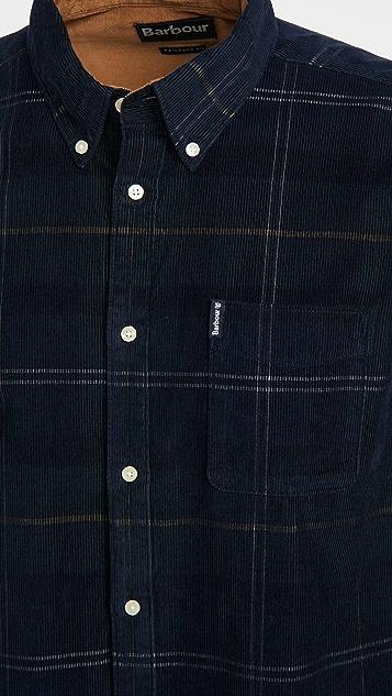 Barbour Tartan Corduroy Long Sleeve Shirt