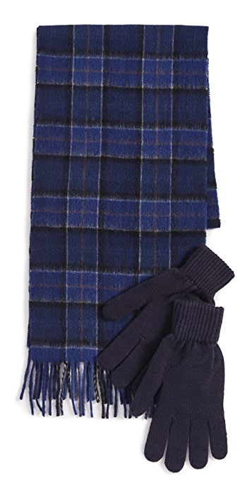 Barbour Barbour Tartan Scarf & Glove Gift Set