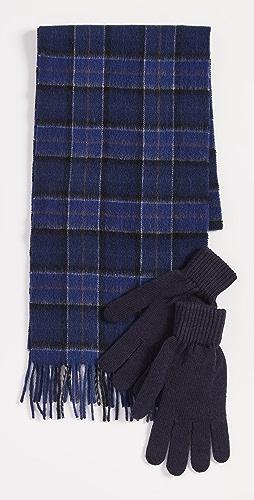 Barbour - Barbour Tartan Scarf & Glove Gift Set