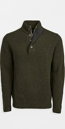 Barbour - Barbour Patch Half Zip Sweater