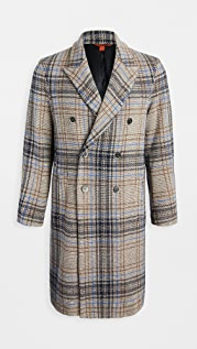Barena Venezia Petrone Wool Plaid Double Breasted Coat