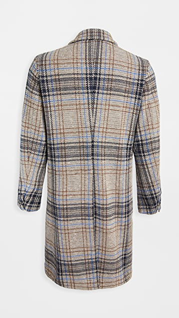 Barena Venezia Petrone Wool Plaid Double Breasted Coat
