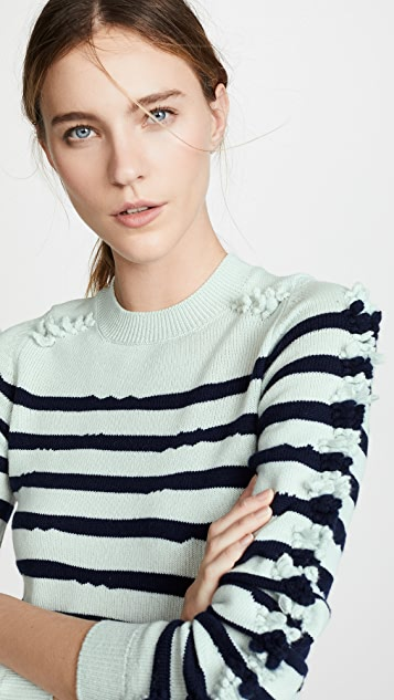 Barrie Striped Cashmere Sweater