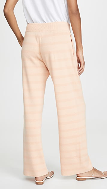 Barrie Striped Cashmere Pants