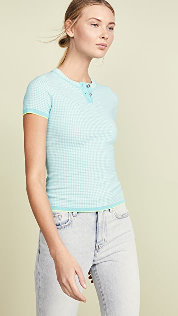 Barrie Henley Top - Turquoise