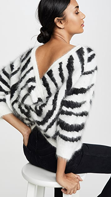 Ba&sh Zaya Zebra Print Sweater