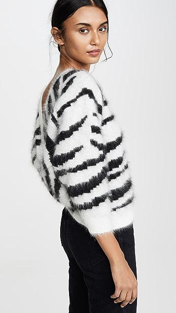 Ba&sh Zaya Zebra Print Sweater
