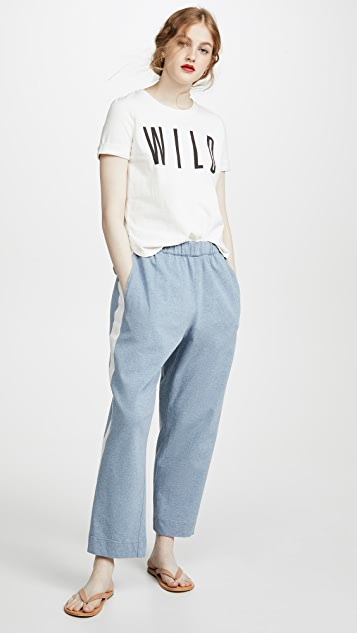 Bassike Canvas Wide Stripe Track Pants