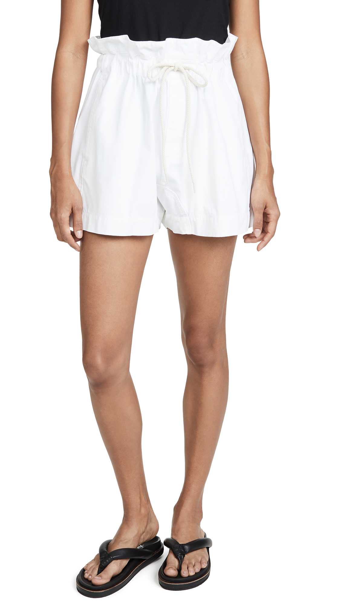 Bassike Canvas Paper Bag Relaxed Shorts