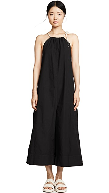 Bassike Cotton Gathered Jumpsuit