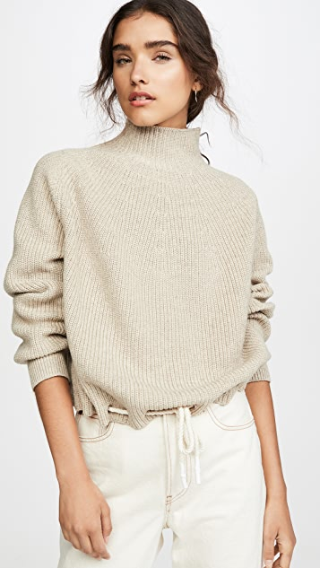 Bassike Drawstring Hem Sweater