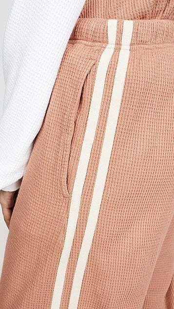 Bassike 织带细节华夫格运动裤