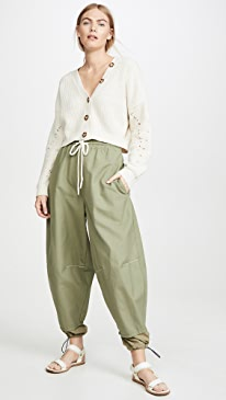 Pull On Parachute Detail Pants