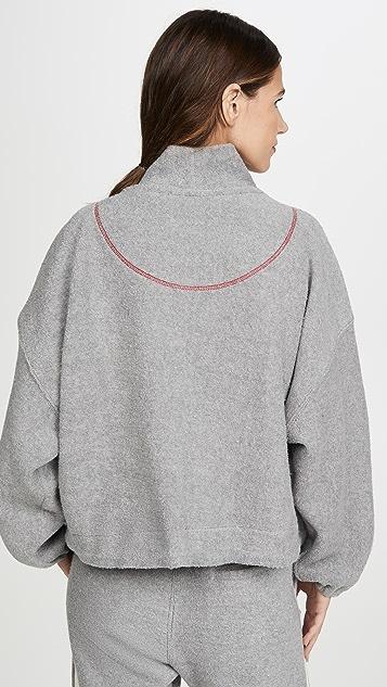 Bassike Reverse 针织宽大版型马球衫运动衫