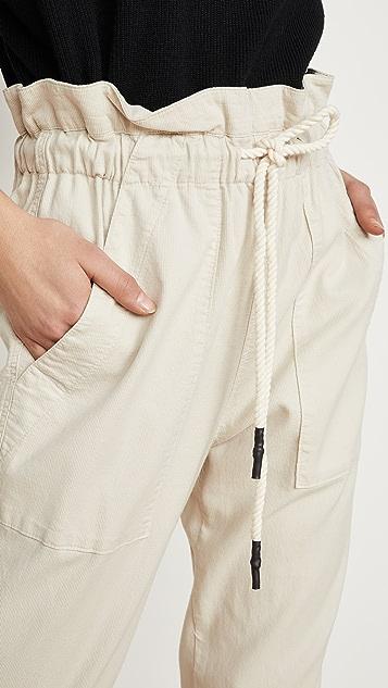 Bassike Dobby 抽绳实穿长裤