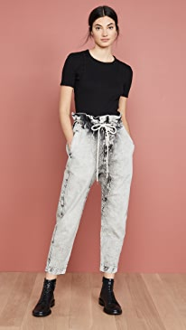 Denim Paperbag Pants