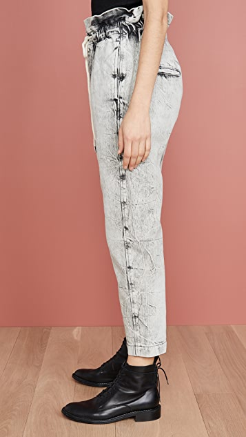 Bassike 牛仔布纸袋长裤