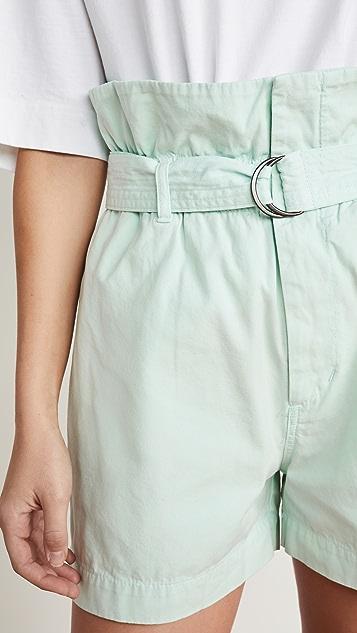 Bassike 帆布系腰带纸包短裤