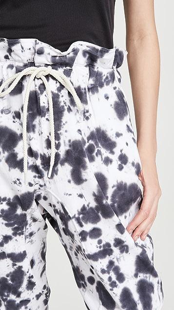 牛仔半裙 双层针织纸包裤