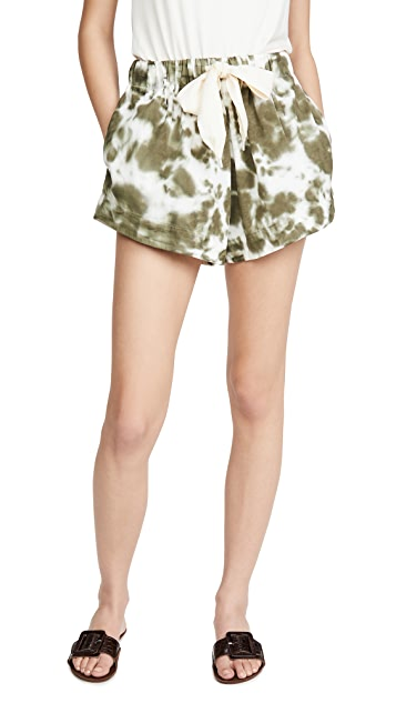 Bassike Twill Flared Mini Shorts