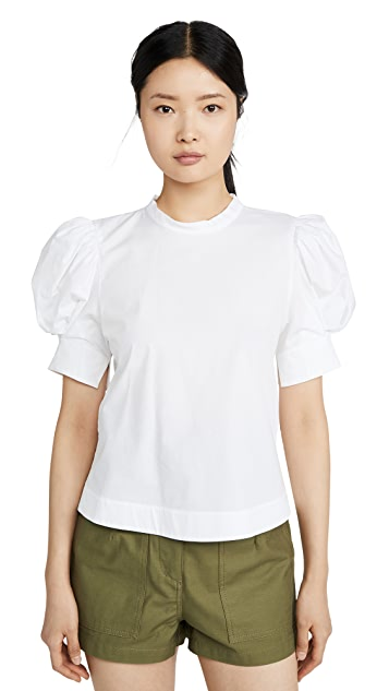 Bassike Cotton Balloon Sleeve Top