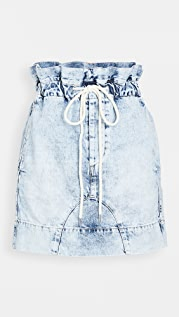 Bassike Motley 牛仔布纸包半身裙