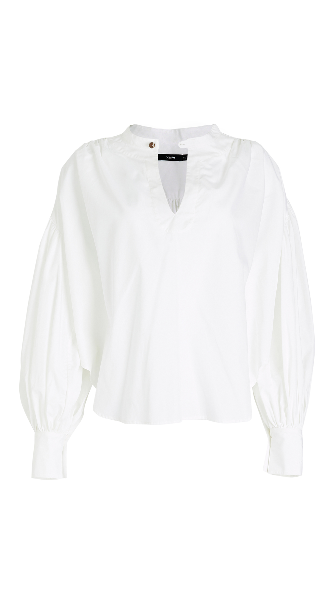 Bassike Cotton Gathered Ovrsized Shirt