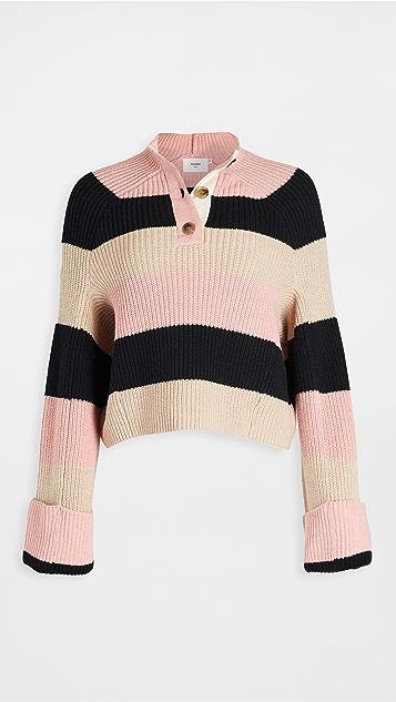 Bassike Stripe Chunky Oversized Knit