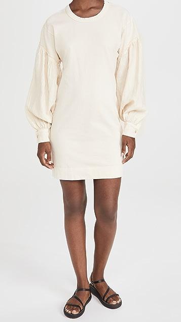 Bassike Contrast Sleeve Dress