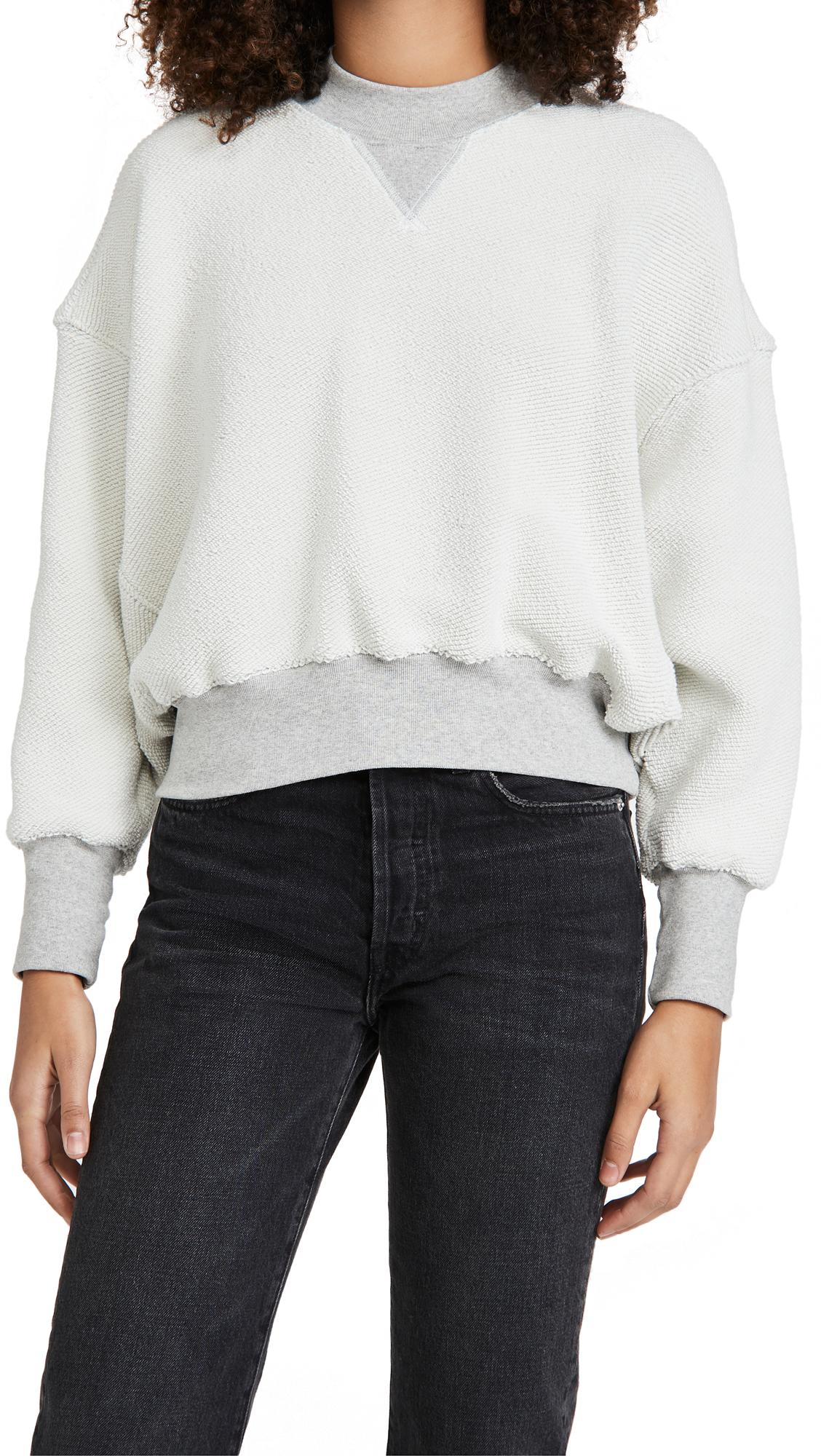 Bassike Reverse Fleece Sweatshirt