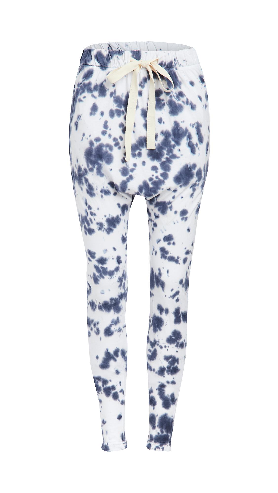 Bassike Tie Dye Slouch Jersey Pants