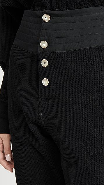 牛仔半裙 Waffle Track 腰部装饰长裤