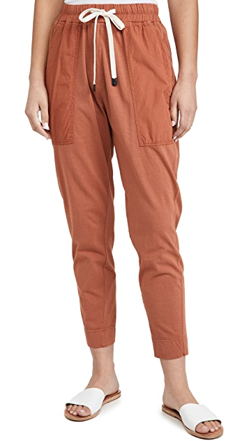Bassike 双面平纹针织面料撞色锥形窄脚裤
