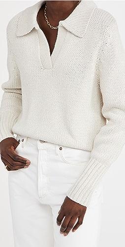 Bassike - Cotton Merino Polo Knit