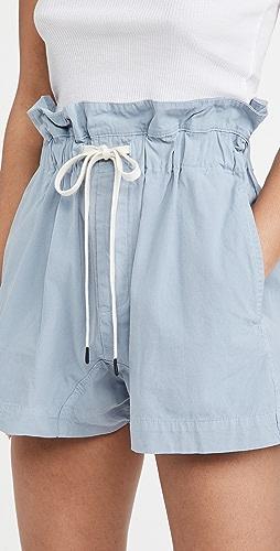 Bassike - 帆布纸包短裤