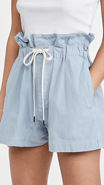 Bassike Canvas Paperbag Shorts
