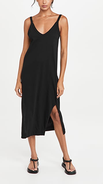 Bassike V Neck Jersey Slip Dress