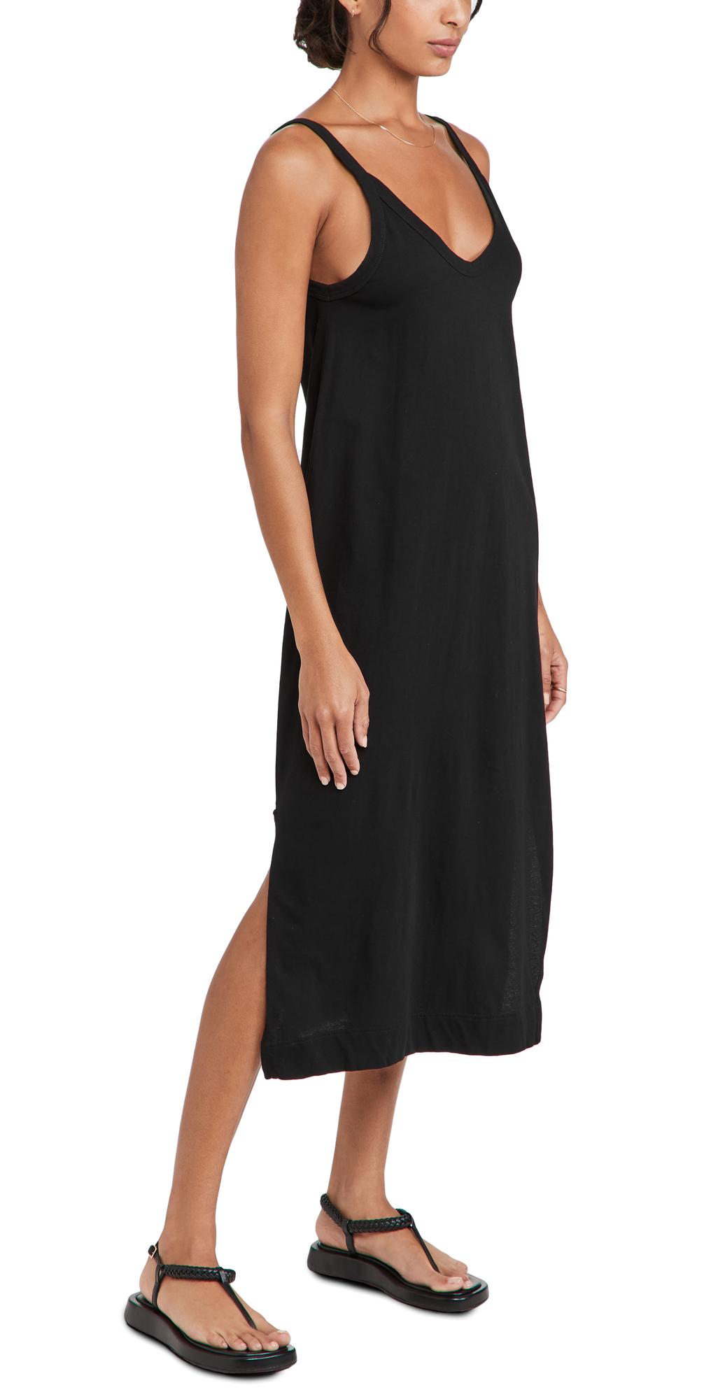V Neck Jersey Slip Dress