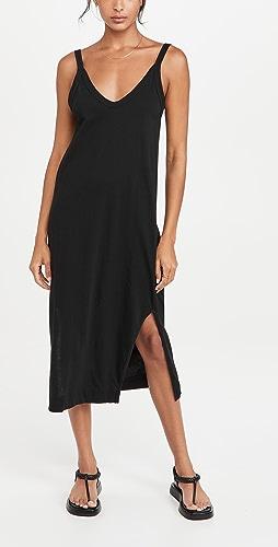 Bassike - V Neck Jersey Slip Dress