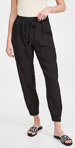 Bassike - 实穿亚麻罗纹裤管口长裤