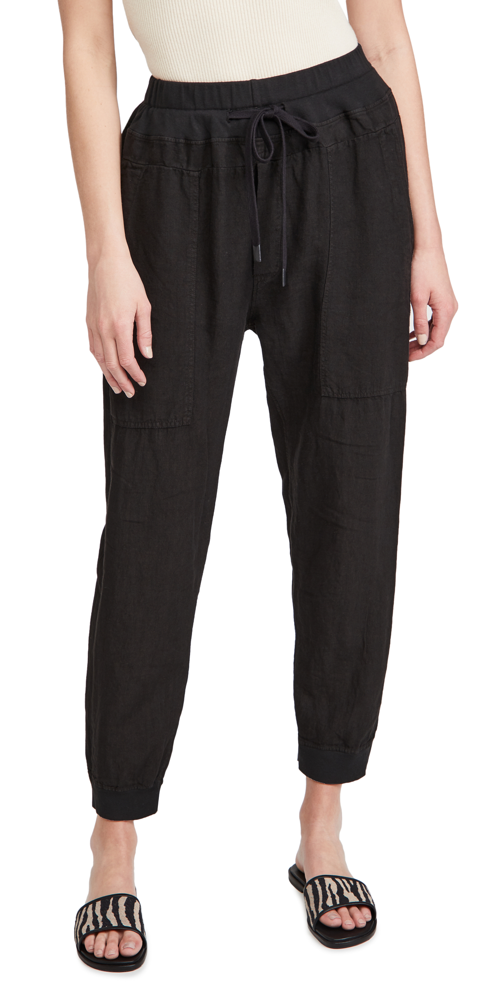Utility Linen Rib Cuff Pants