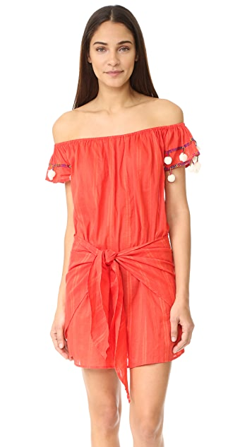 Basta Surf Marisol Off Shoulder Wrap Skirt Dress