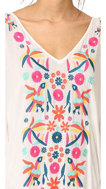 Basta Surf Coquina Embroidered Caftan