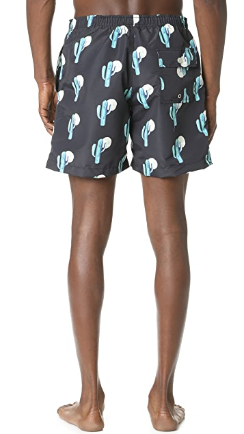 Bather Cactus Swim Trunks